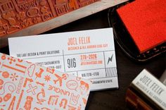 Stamped business cards - CardFaves