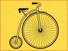Dribbble - Penny Farthing by Tom Gurka #bicycle