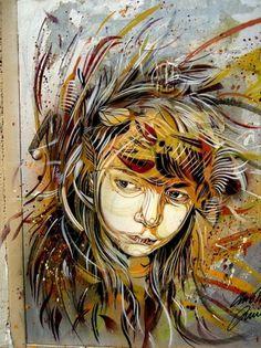 C215 - Roma (Monti) | Flickr - Photo Sharing! #guemy #graffiti #christian #stencil #art #street #c215