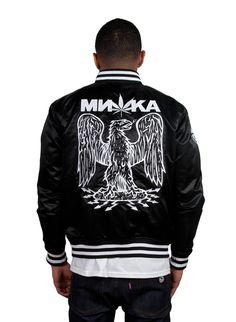 Stomper Cyco Sativa Varsity Jacket (Black) | Mishka NYC #eagle #mishka
