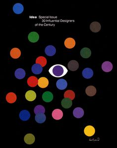 Idea, Paul Rand #colors #black #dots #paul rand