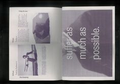 The Unfinished Works - Scott Langer — Graphic Design #design #graphic #newspaper #layout #editorial #typography