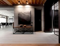 Trendy Functional and Contemporary Home fashionable moody dark living room interior 1