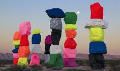 'Seven Magic Mountains' Appear in the Nevada Desert Literally balancing meditation with a childish sense of wonder and imagination.