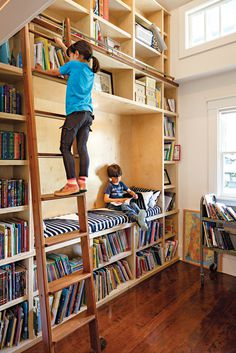 An Airy Addition to a Historic Boise Home  Awesome Book Shelf