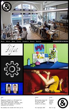 Sagmeister & Walsh New York creative design agency studio new website inspiration designblog www.mindsparklemag.com