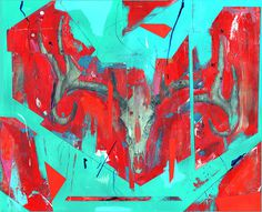 Tumblr #painting #skull #deer #art