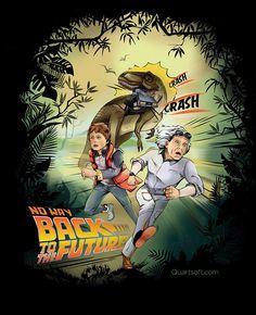 Back to the future illustration by QuartSoft #movie #design #illustration #dinosaur #fun