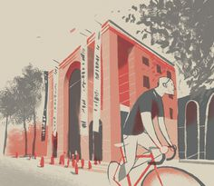 CITY CYCLING GUIDES Europe on Behance #muted #city #illustration #cycling #drawing