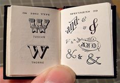 Typeverything.com - Miniature Book / Big Type Book... - Typeverything #typography