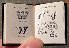 Typeverything.com - Miniature Book / Big Type Book... - Typeverything #typography