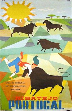 Portugal, #travel #portugal #illustration #poster #bull