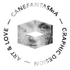 Canefantasma, logo @canefantasma, 2013 #logo #face #canefantasma #stamp