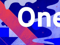 One? exploration studio wavvy texture abstract type illustration pattern