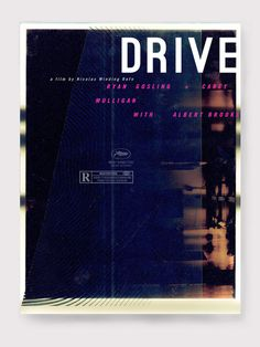 Film Poster Design on Behance #movie #drive #poster
