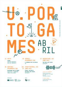 U.Porto Games event poster by Gen Design Studio.