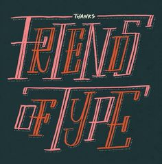 Friends of Type page 11 #typography #hand drawn type #decorative type
