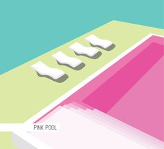 Illustrations_Architecture : Adrineh Asadurian #pink #pool #illustration #architecture