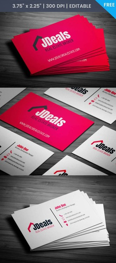 Free Real Estate Broker Business Card Template