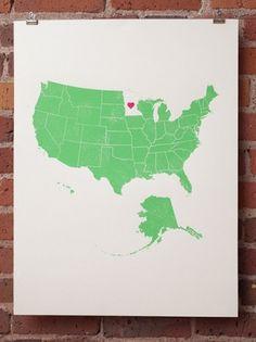 johnny & stacie prints | Design*Sponge #screenprint #poster