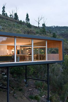 Wood house with single level #architecture