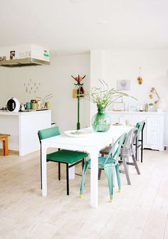 Holly marder green dining chairs