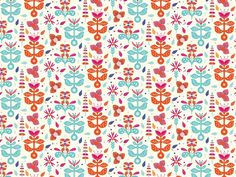 http://www.anatypestype.com #pattern #plants #color #flower #patterns #flowers
