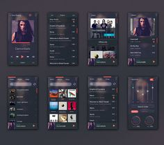 Android Music Player UI Kit PSD