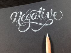 Negative large #type #design #lettering