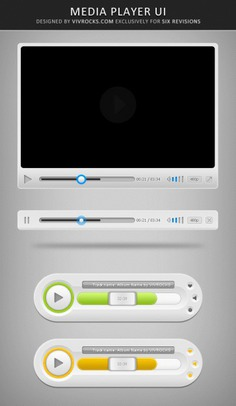 Multimedia player ui elements Free Psd. See more inspiration related to Music, Box, Video, Elements, Ui, Psd, Material, Progress, Multimedia, Video player, Panel, Volume, Control, Player, Broadcast, Pause, Vertical and Players on Freepik.