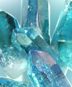 Blue Crystals #blue #faceted #crystals #photo