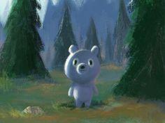 Dribbble - Blue bear. by ssebong #bear