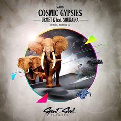 Cosmic gypsies #album #elephant #cover #art #animal #cosmic