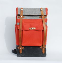 The Coral Felt Camper #bag