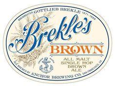 Brekless-Brown-Anchor-Brewing.jpg 438×328 pixels #beer #typography
