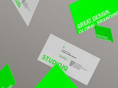 SJQ 2014 // Business cards #swiss #branding #quintin #identity #studio #logo #layout #green