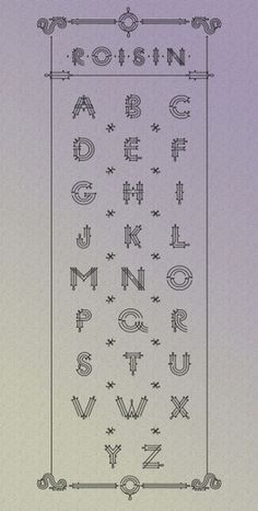 design work life » Roison #marta #podwinska #lettering #roison #alphabet #typeface #type
