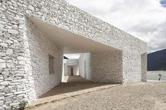 standardarchitecture: niyang river visitor center #courtyards #white #stone #architecture #facades