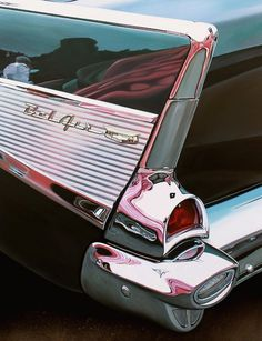 Realistic Old Polished Cars Paintings -3b #art #painting #realistic #car