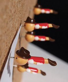 Real Boy Push Pins | Stationery | Duncan Shotton Design Studio #pins