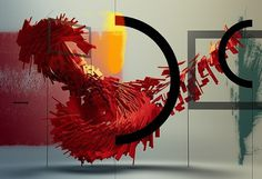 Motion FCS 3 Cover - semafore #design #sculpture #red #light #shadow #motion #tweener #iterator