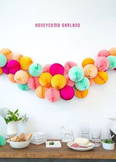 Honeycomb Garland DIY - Adorbs #typography
