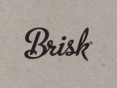 Dribbble - Brisk by Ryan Carter #script #branding #cardboard #logo #paper