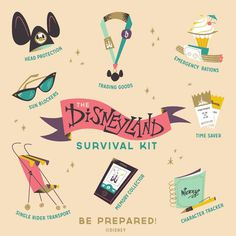 Disneyland_survival_kit_final #illustration #disney #retro