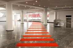 Large kgm walkway 01 small #exhibition #brutalist #identity #wayfinding