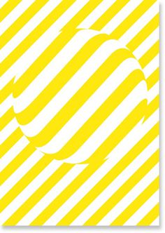 Dot by Studio Makgill #white #stripes #yellow #pill #poster