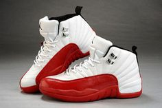 Available Now: Air Jordan Retro 12 Red/White Leather Women Shoes Release Online