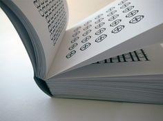 A-Z in Baskerville Book : #baskerville #book #handbound #typography