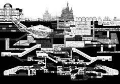 Atira Ariffin. M.Arch Thesis // Moscow Metro - 3.3 XL section #urban