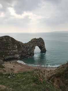 """Visited Durdle Door. Truly breathtaking. It's definitely one of the most breathtaking hike I have hiked in years. About: """"Durdle Door is a natural limestone arch on the Jurassic Coast near Lulworth in Dorset, England."""" - hippydippyhippy"""